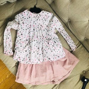 Kids outfit, Top & Skirt size 4